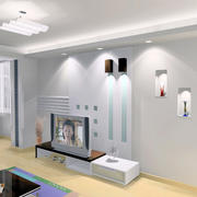 超小客厅简洁式背景墙设计
