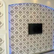 水滴图案型电视墙设计