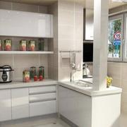 小户型开放式厨房瓷砖设计