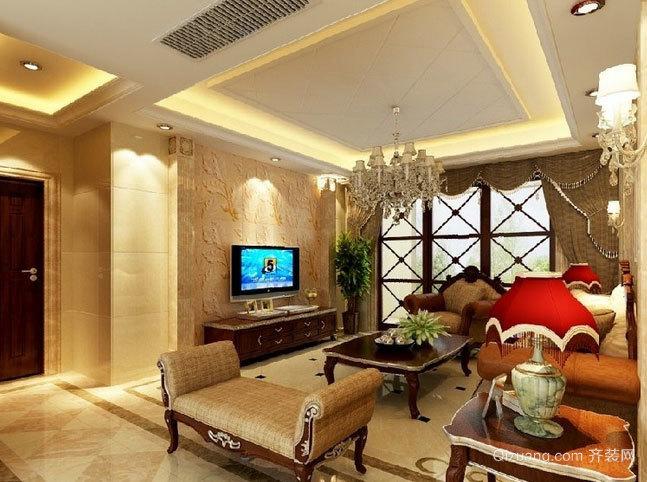 欧式风格生态硅藻泥电视背景墙装修设计