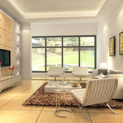 客厅石膏线装修沙发图