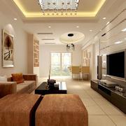 客厅硅藻泥背景墙造型图