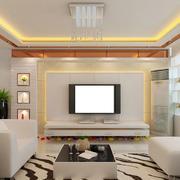 客厅硅藻泥背景墙装修吊顶图