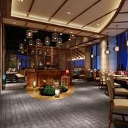 中式风格的大户型餐厅