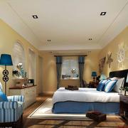 地中海风格卧室装修吊顶图