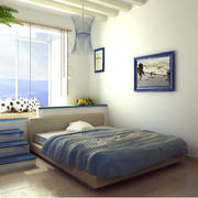 地中海风格卧室装修飘窗图