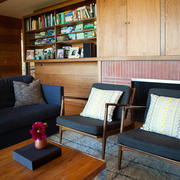 房屋客厅木制书柜装修