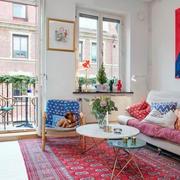 90平米粉色烂漫型客厅设计