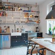 90平米独特高雅型餐厅设计