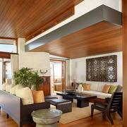 生态木吊顶房屋设计客厅图