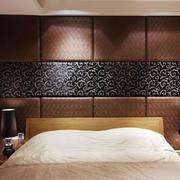 欧式深色大气床头背景墙