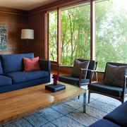 房屋深色气质沙发设计