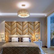 浅色大气欧式主卧背景墙设计