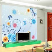 客厅电视背景墙体彩绘