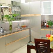 厨房不锈钢橱柜颜色搭配