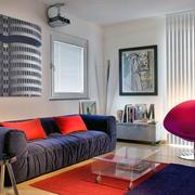 90平米美式三居室客厅设计