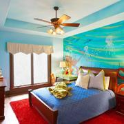 卧室背景墙体彩绘展示