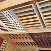 现代简约密集式原木吊顶