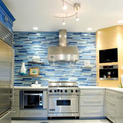 完美的厨房不锈钢橱柜图