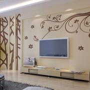 清新型硅藻泥背景墙