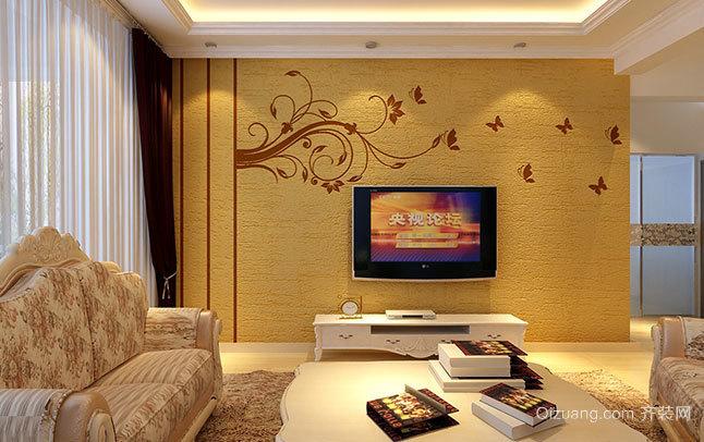 不伤视力的别墅硅藻泥电视背景墙