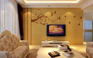 暖色调硅藻泥背景墙