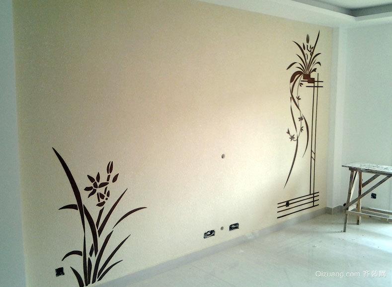102平米精装硅藻泥电视背景墙效果图