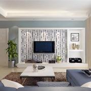 引人注意的黑白瓷砖背景墙