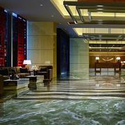 别墅大客厅瓷砖地板