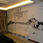 具有中式韵味的墙体彩绘