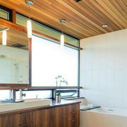 生态木吊顶房屋设计造型图