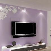 紫色怡情硅藻泥背景墙