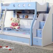 天蓝色的实用儿童床