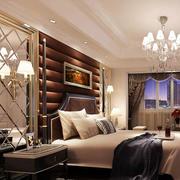 奢华深色床头背景墙