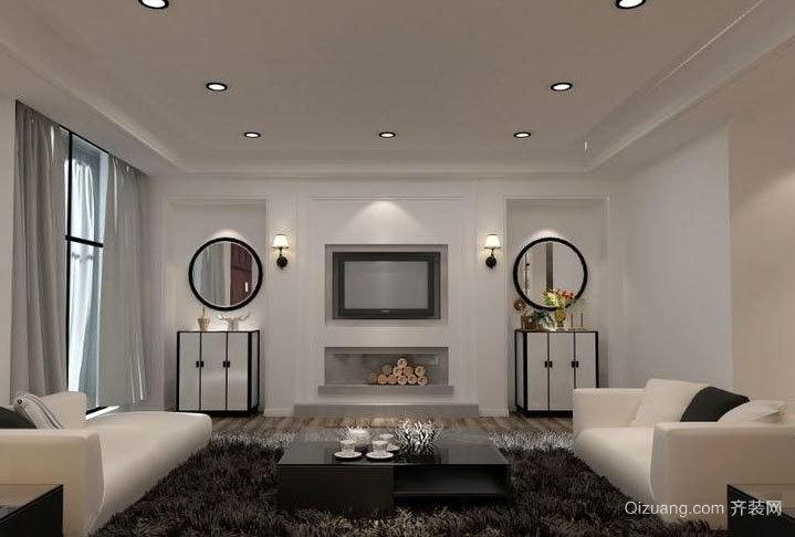 两室一厅现代简约风格客厅装修效果图