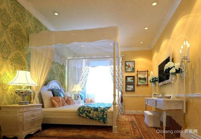 温馨欧式田园风格小卧室装修效果图