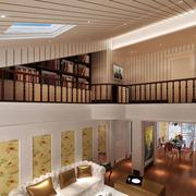 生态木吊顶房屋设计灯光效果