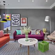 欧式90平米三居室客厅设计