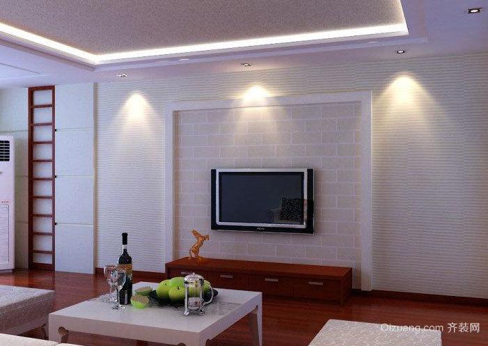 跃层宜家风格硅藻泥电视背景墙图片