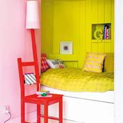 90平米家装黄色榻榻米床设计