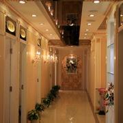 美容院精致走廊装饰图