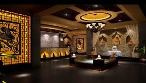 中式风格的美容院大厅