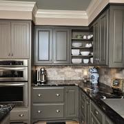 灰色美式风格的橱柜