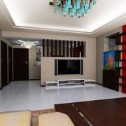 白色家居客厅瓷砖地板