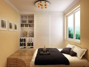 现代日式风格大户型卧室榻榻米装修效果图
