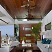 生态木吊顶房屋设计整体图