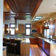 生态木吊顶房屋设计厨房图