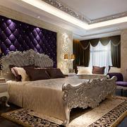 紫色高贵主卧背景墙