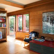 木制房屋简约吊顶设计