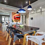 90平米家居创意画餐厅设计